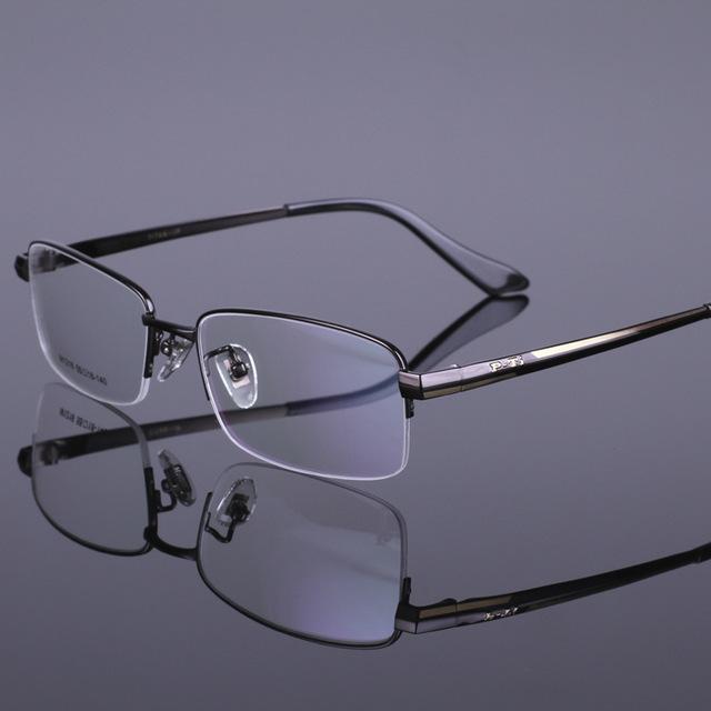 Marco óptico de lentes de los vidrios de Los Hombres de lujo de gama Alta de visita del metal de titanio enmarcan gafas de grau envío gratis