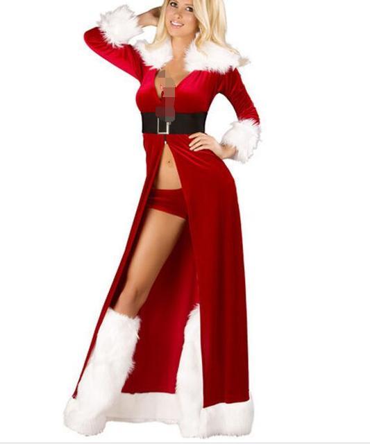 Plus Size Christmas Costumes.Plus Size Womens Christmas Costumes Santa Sweetie Velvet Holiday
