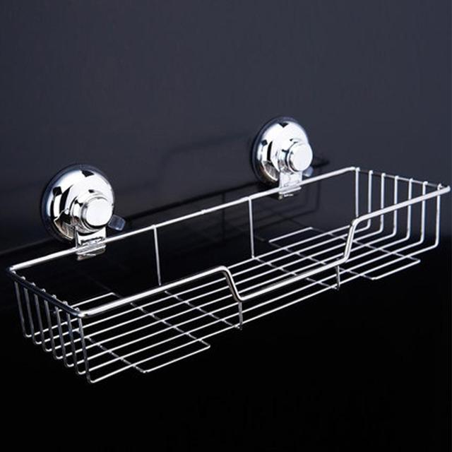 AsyPets Bathroom Shower Baskets Bath Shelf Storage Organizer Suction ...