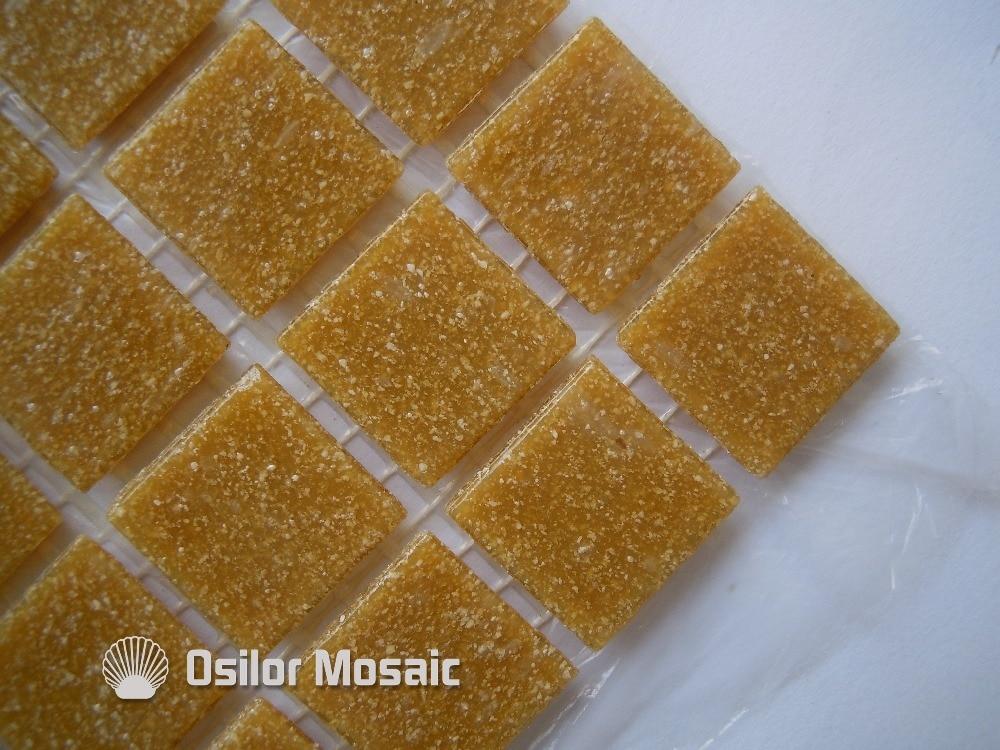 Piastrelle Da Parete Per Esterno : Spedizione gratuita giallo piastrella a mosaico in vetro piastrella