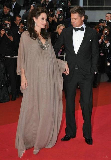 e2d3a8277 أنجلينا جولي العربية فساتين السهرة الأمومة لل نساء الحوامل كم طويل زائد  الحجم العباية في دبي