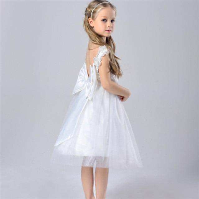 1bc7b6a9f Backless Kid Girls Dresses for Party Wedding Princess Bridesmaid ...