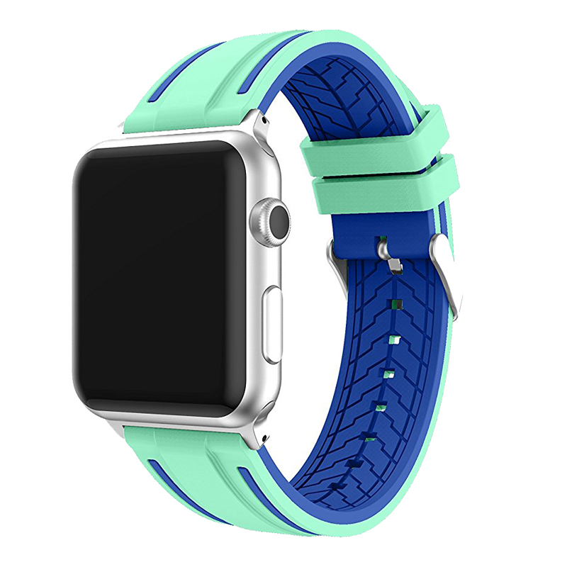 JANSIN Sport band for apple watch series 4 3 2 1 strap for iWatch  Soft Silicone Replacement band adapter 38mm 40mm 42mm 44mm 3