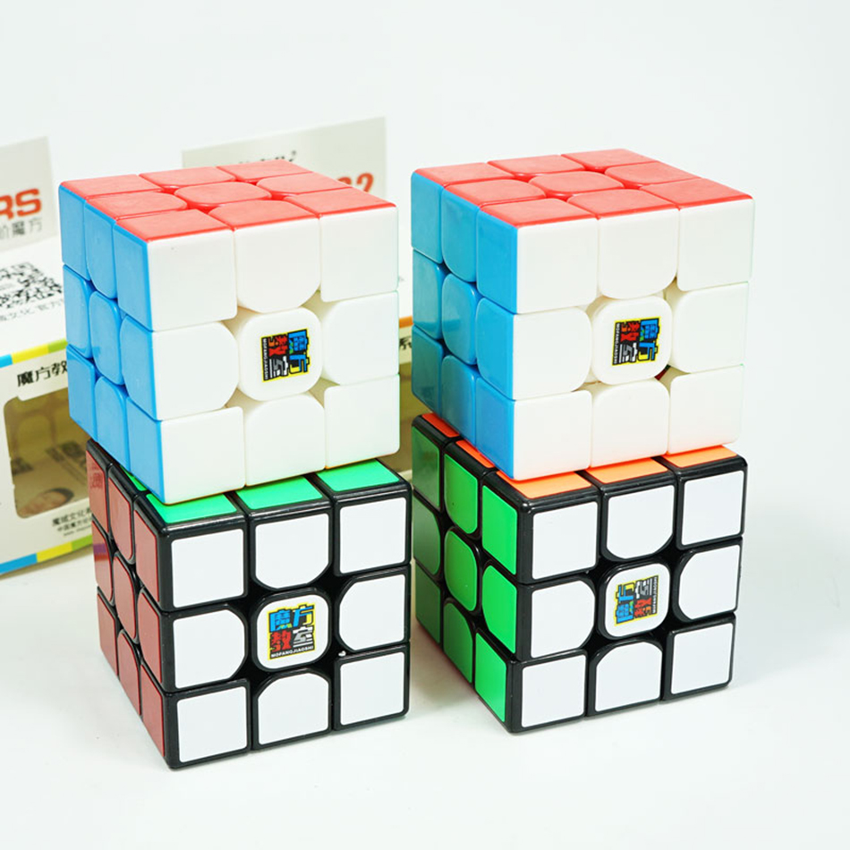 MoYu MoFangJiaoShi MF3rs MF3rs2 Magic Cube 3x3 Speed Cube 56mm Puzzle Magico Cubo Black Stickerless Educational Toy Kid MF3RS V2
