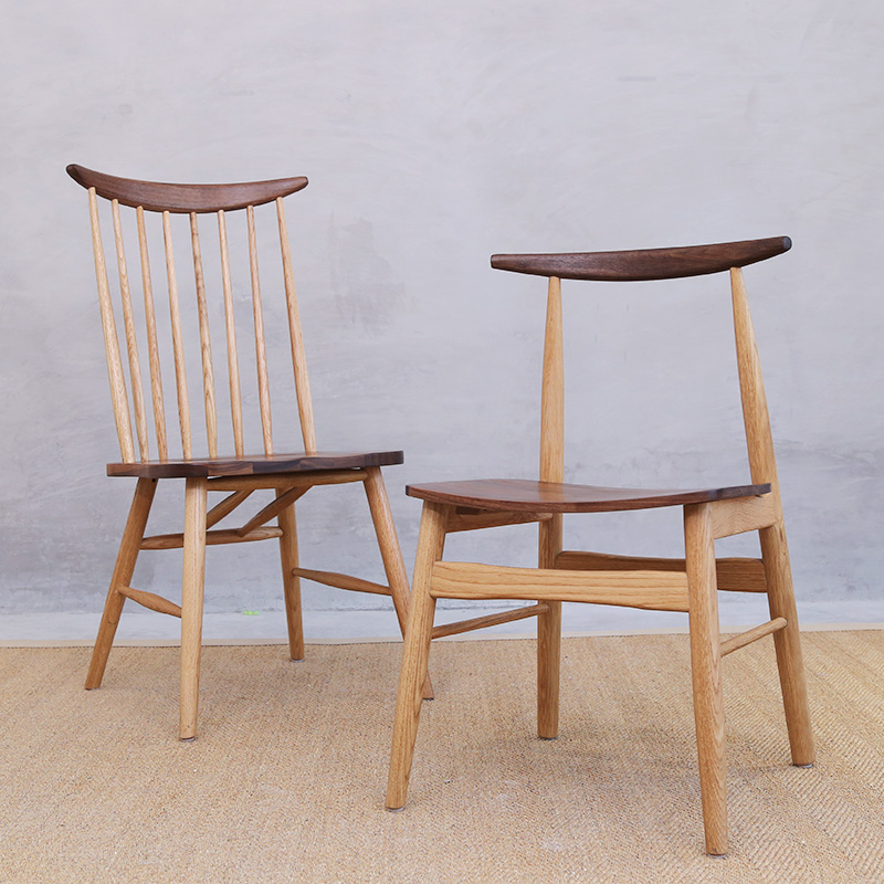 Aliexpress.com : Buy Nordic Chair Black Walnut fight white ...