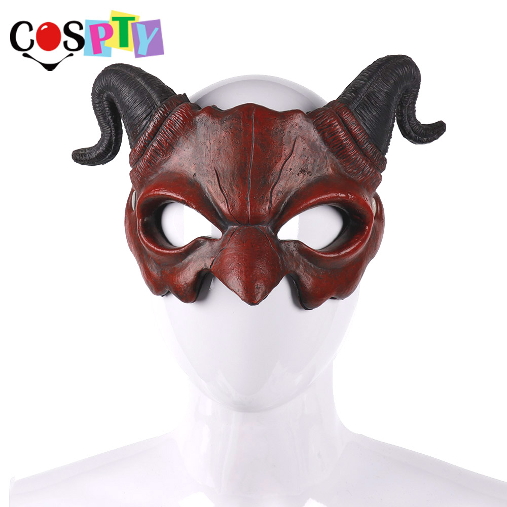 resin Half Head Kigurumi Bjd Mask Cosplay Japanese Anime Role Demon Mask Crossdress Doll Mask demon Novelty & Special Use