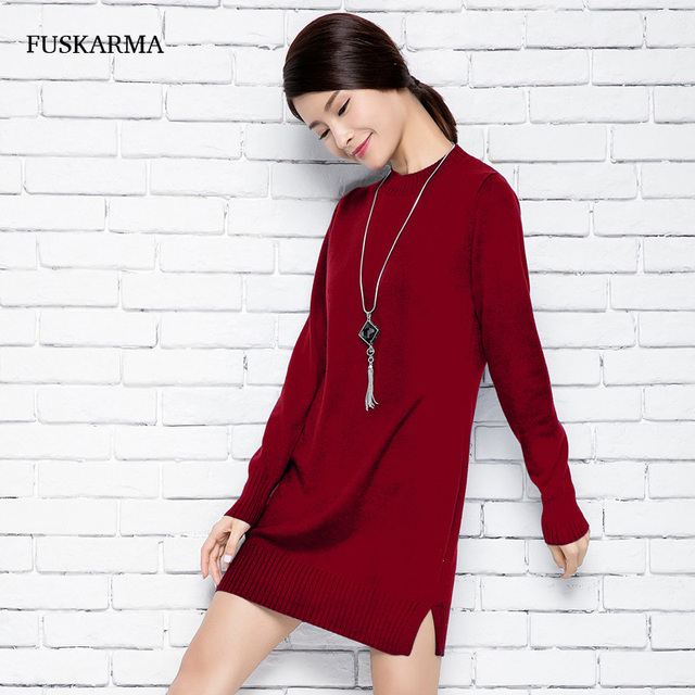 Cashmere Women Sweaters And Pullovers Long Sleeve Sweater Dress Women Half Turtleneck Pullover Sweater Women Plus Size Clothing