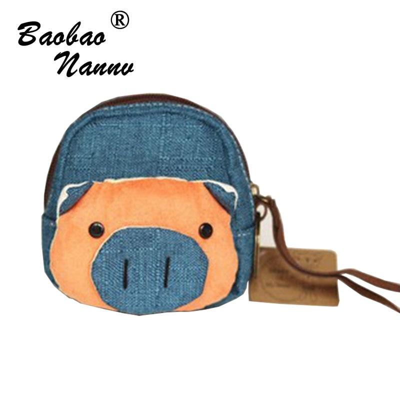 все цены на  Mini Animal Coin Purses For Girl Canvas Wallet Bag Ladies Face Cartoon Children's Purse bolsa de moeda coins pouch monedero  онлайн