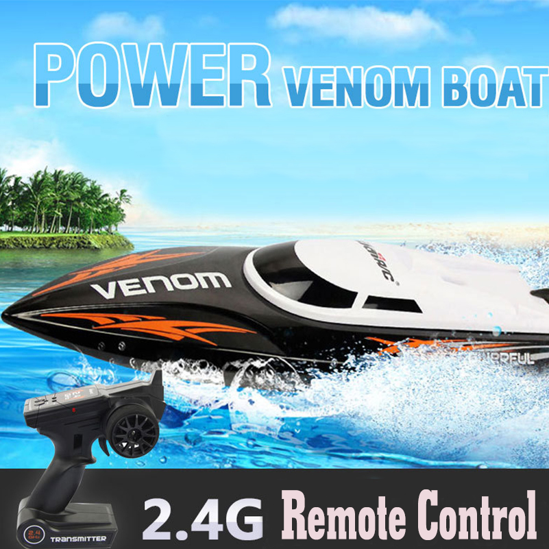 2.4G 4 CH RC Boat High Speed Racing RC Boat Toys Remote Control Ship Outdoors Racing Speedboat Toys for Children Gifts