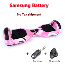 Samsung battery 2 wheels self balance electric scooter 6.5inch Hover board standing drift board electric hoverboard no TAX
