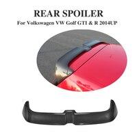 Углеродного волокна задний спойлер на крыше багажника губ крылья для VW Golf 7 VII MK7 GTI R 2014 2017 черный окно крыла о стиле