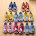 2017 la primavera y el otoño y la historieta de los niños zapatos la muchacha del muchacho bebé niños de 1 a 3 años de edad zapatos del niño del bebé