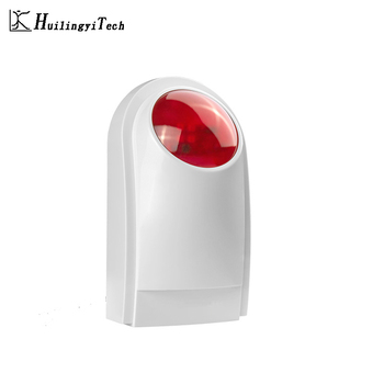 433MHZ Wireless External Outdoor Waterproof Flash Siren Sound Strobe Flash Alarm Siren Wifi GSM PSTN Home Security Alarm System smartyiba wifi gsm 2g home security alarm system wireless wired zone motion sensor with wireless strobe siren