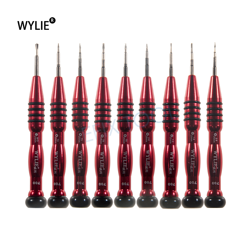 9pcs/set Mobile phone repair screwdriver set for cell phone computer opening repair tools kit WL700