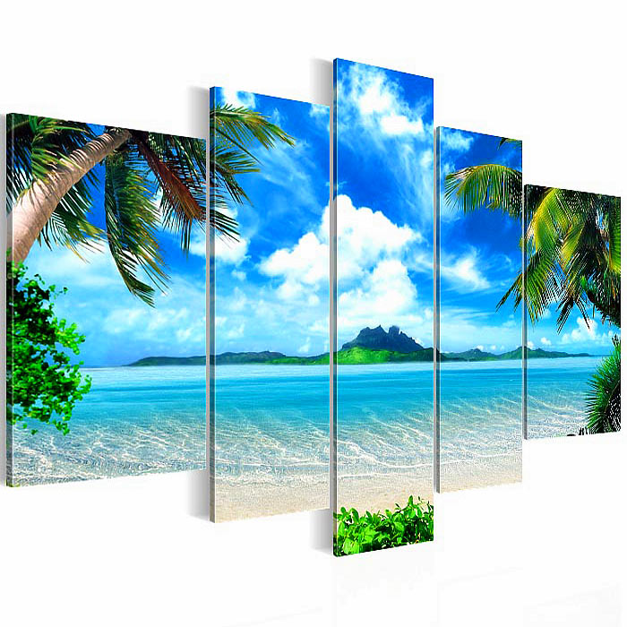 Not Framed Canvas Print Modern Canvas Painting seascape beach Home ...