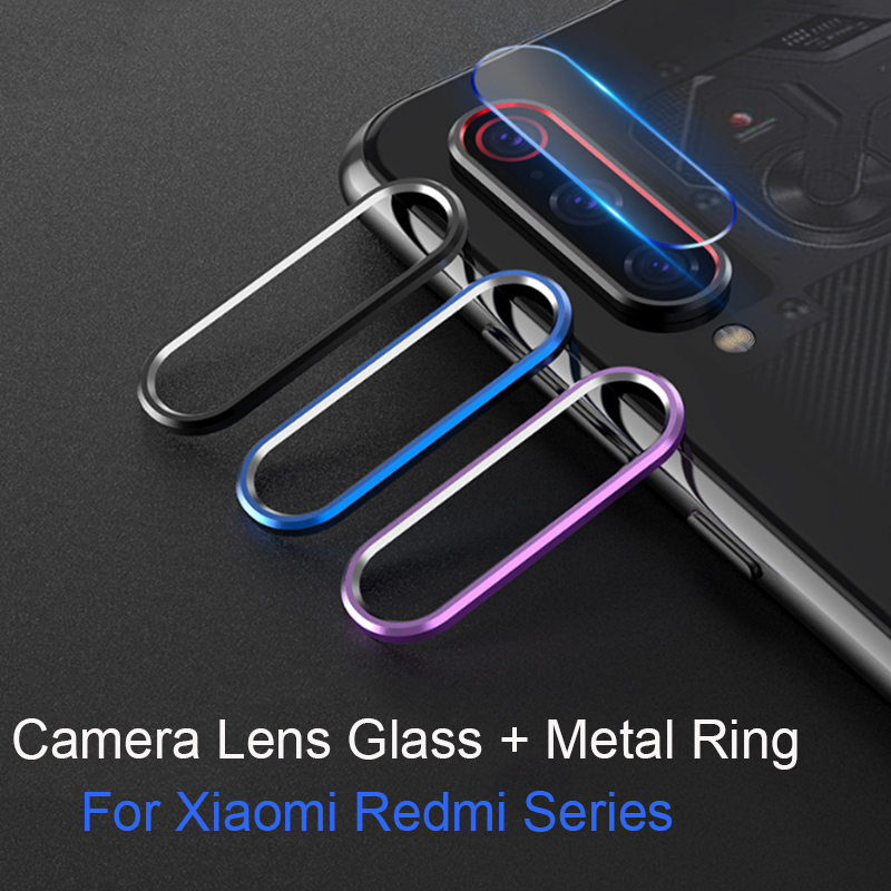Tempered Glass On For Xiaomi Mi 9 8 SE Mi 9t CC9 A3 Redmi Note 7 K20 Pro Glass Protector Camera Lens Protective Ring Cover Case