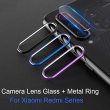 Tempered Glass On For Xiaomi Mi 9 SE Mi 9t CC9 A3 Lite Redmi Note 7 8 Pro Glass Protector Camera Lens Protective Ring Cover Case(China)