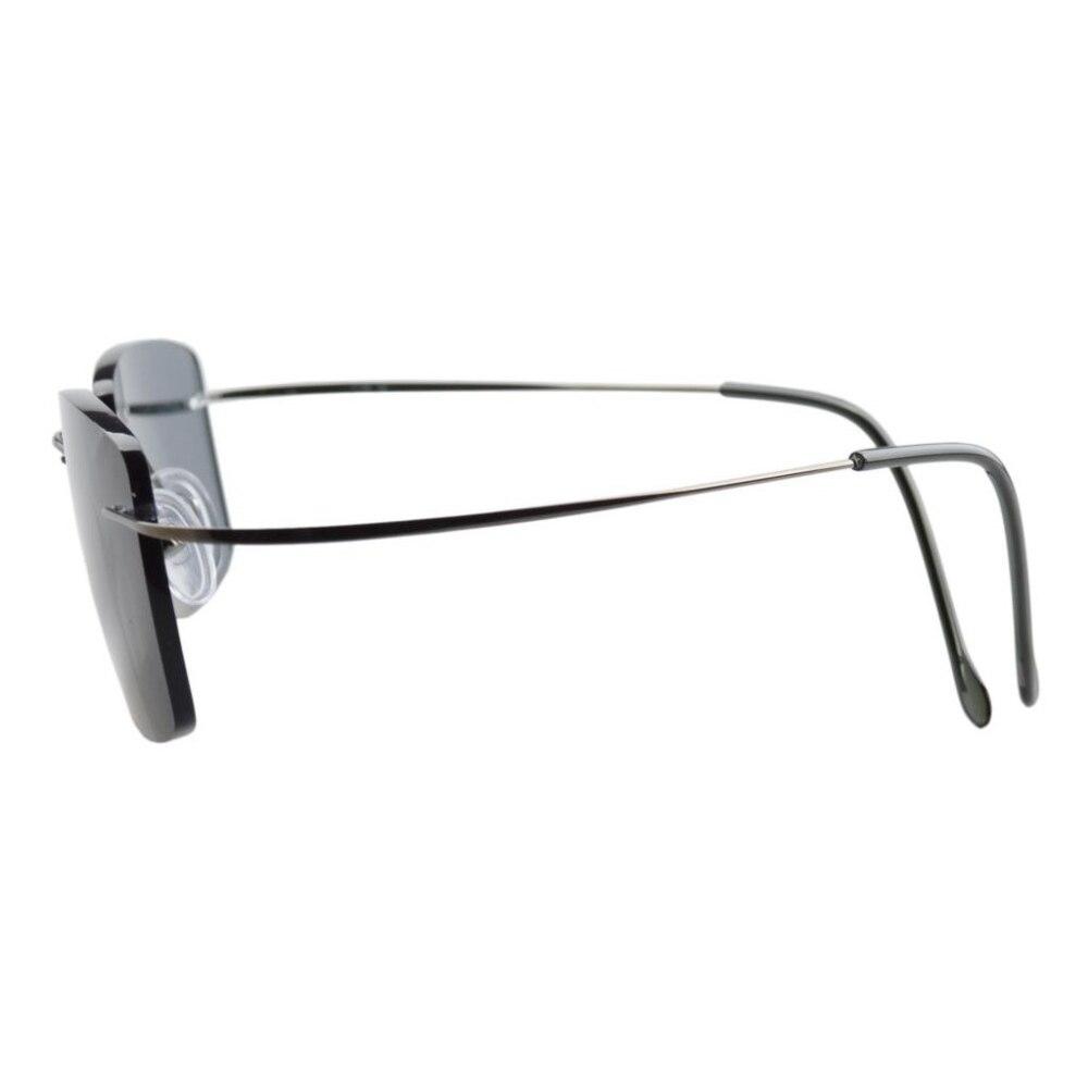 921f3d026bd5 R1509 Grey lens Eyekepper Titanium Rimless Reading Sunglasses Sun Readers  Men +0.5/0.75/1.0/1.25/1.5/1.75/2.0/2.25/2.5/2.75/3.0-in Reading Glasses  from ...