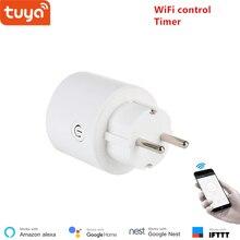Tuya WiFi smart buchse drahtlose stecker EU smart home schalter kompatibel mit Google home und Alexa voice control
