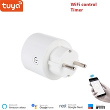 Tuya WiFi smart socket wireless plug EU smart home switch compatible with Google home and Alexa voice control