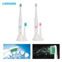 Lansung a39防水ソニック電動歯ブラシ超音波歯ブラシ用すべてドライバッテリー電源で高周波振
