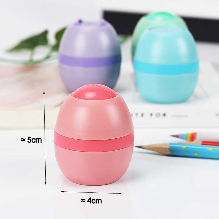 4 Color Cute Kawaii Lovely Plastic Egg Pencil Sharpener Creative Stationery Gifts For Kids Stationary Office School Supplies