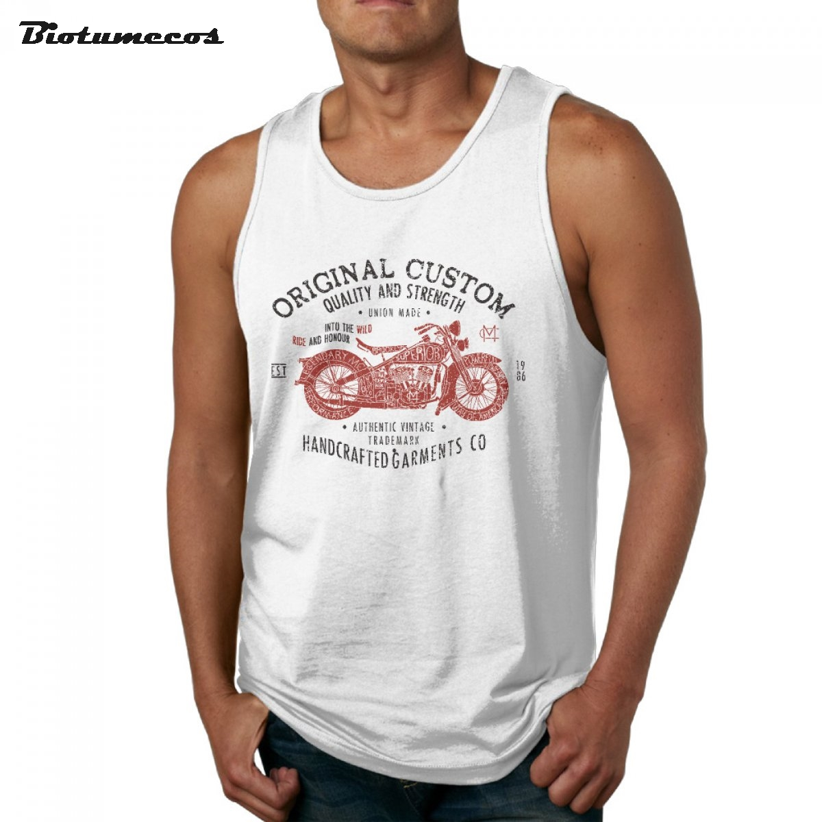 Men Tank Tops Fashion Brand Sleeveless T Shirt Original Custom