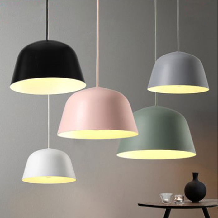 где купить A1 Nordic Pendant Lights Danish designer color aluminum single head restaurant living room Cafe clothing store lamps FG901 по лучшей цене