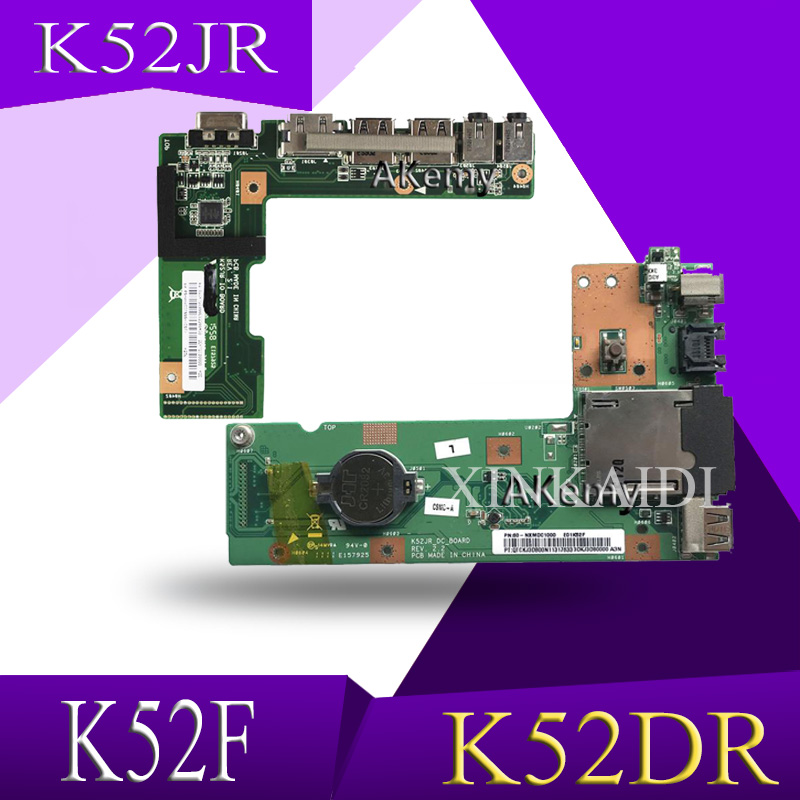 XinKaidi OriginFor ASUS K52 K52J K52JR K52JC K52DR X52F K52F X52J DC Power Jack Audio Board 60-NXMDC1000 100% Tested Fast Ship