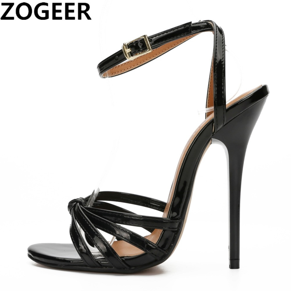 Plus Size 48 Sexy Women Sandals Thin High Heels Gladiator Ankle Straps Fashion Summer Flip Flop