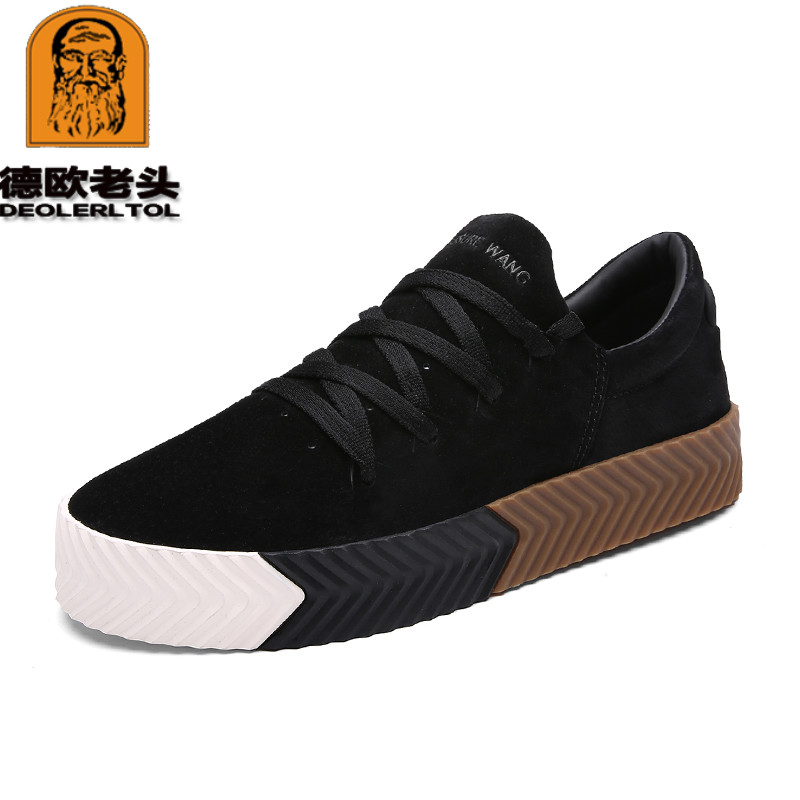 Newly Man s Loafers Genuine Pigskin Spring Shoes Fashion Men s Casual Shoes Thick bottom Genuine