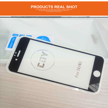 """2.5D Curved 0.2mm Full Screen Cover 9H Hard Screen Protector Tempered Glass film For iphone 6/6s 4.7 """"scaled-down version"""
