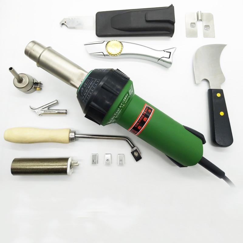 110V/220V Professional Hot Air Welding Kit + Plastic Heat Gun + Accessories 1600W for PVC Plastic flooring Linoleum Vinyl Floor