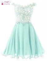Vestido De Festa Curto Homecoming Dresses 2016 Pink Light Green Lavender Short Homecoming Dress