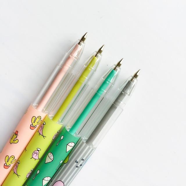 3X Fresh Cactus Bird Cloud Ice Cream Ball Ballpoint Pen Writing Signing Pen Office School Supply Student Stationery 0.5mm 1