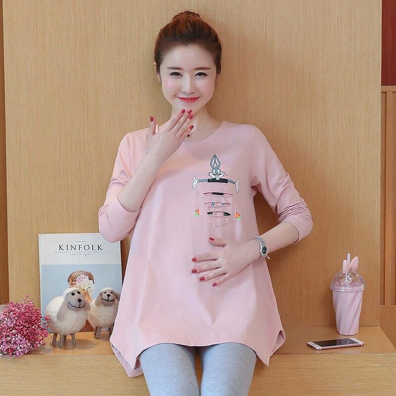 Pregnant women dress in spring and autumn long sleeves long coat shirt 2017 new tide simple and elegant dress krishna datt bhatt t gondii in pregnant women