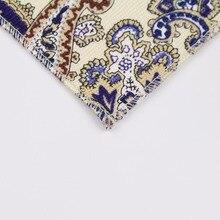 Men's Vintage Style Cotton Linen Handkerchief Floral Flower Rose Paisley Pocket Square 22*22cm Hankies Towel Casual