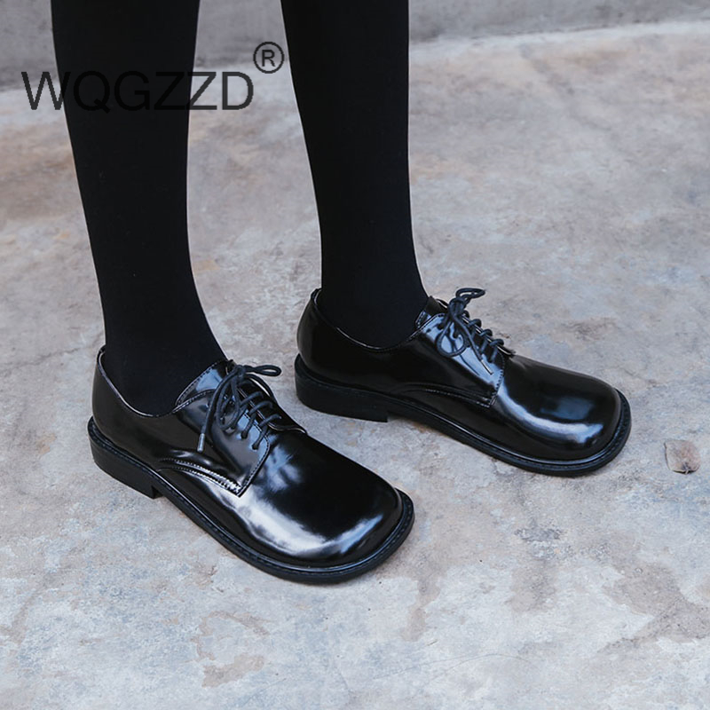 2018 Luxury Women Flat Shoes Woman Genuine Leather Shoes Lace Up Oxford Shoes For Women Zapatos