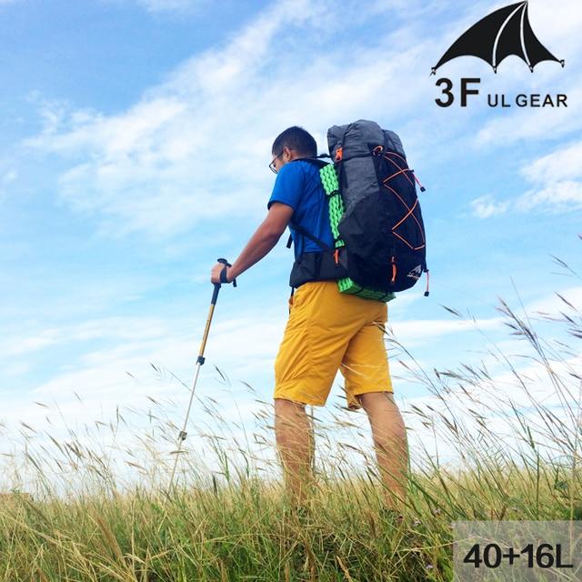3F UL Gear Lightweight Backpack Trekking Rucksacks 40+16L 5