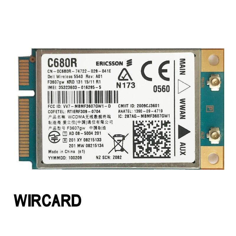 F3607gw E6400 WWAN 5540 DW5540 3G MODULE Card FOR E6400 E6500 E6410 E6510 E4200 DELL 5540 C680R
