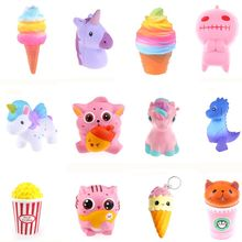 Squishy Toy penguin tooth pumpkin squishies Slow Rising 10cm 12cm Soft Squeeze Cute Cell Phone Strap gift Stress children toys(China)