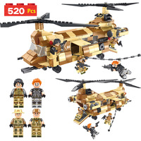 Hot Technical Equipment Blocks Set Compatible LegoINGLY Military CH 47 Helicopter Chinook Figures Eductional Toys For Kid