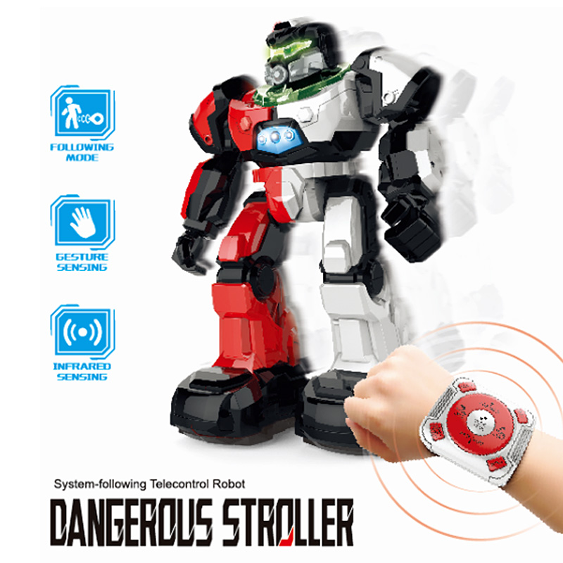 US $50 43 |2018 New Watch Remote Control Smart Follow RC Robots Toys  Children Gesture Induction Music Dance Story for Kids Birthday Gift #C-in  Action