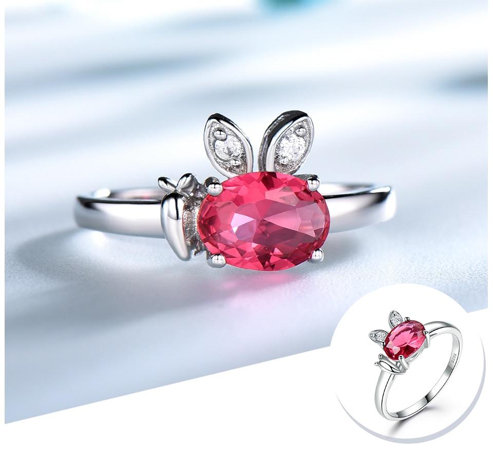 Honyy  Ruby 925 sterling silver rings for women RUJ088R-1-PC (4)