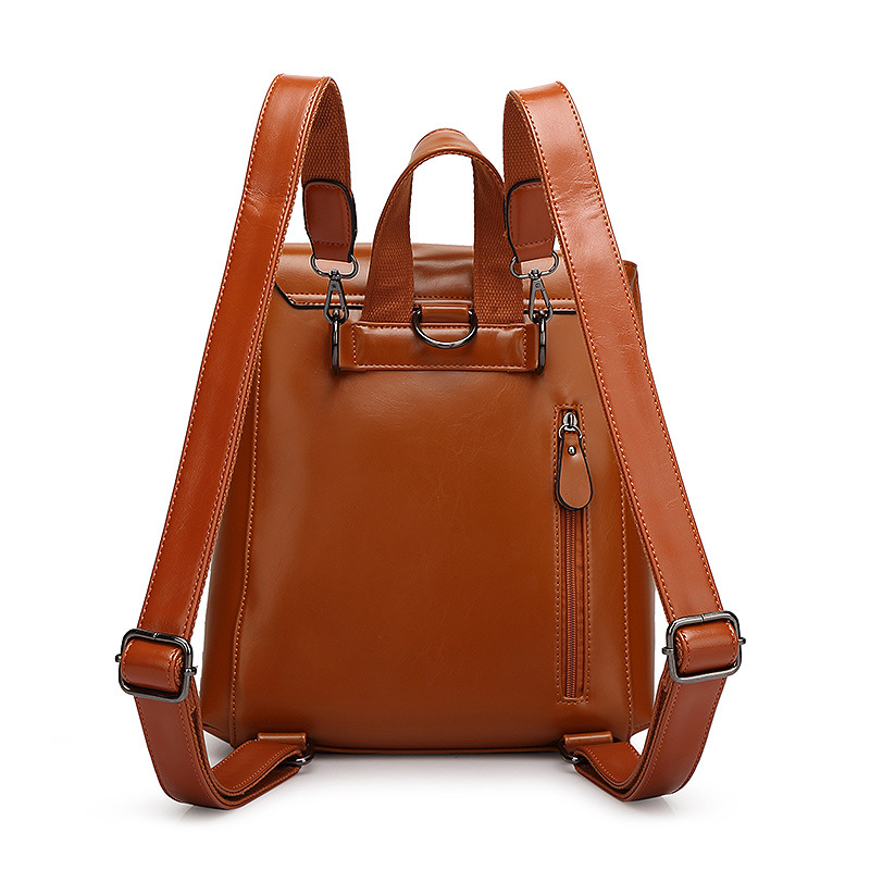 Kissyenia Leather Backpack Women Classic Oil Wax Solid Backpack Teenager Girls Roomy Rucksack Laptop School Bags Ks1033 #3