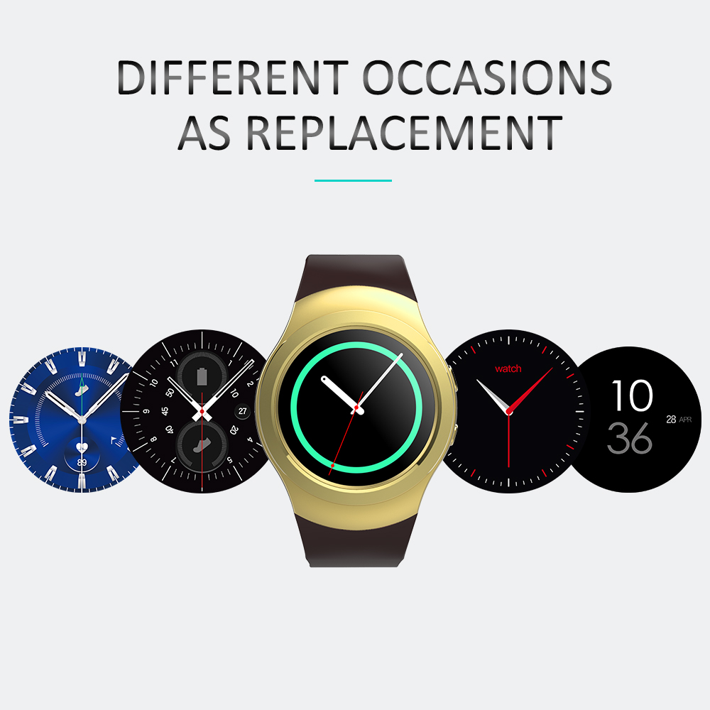 ФОТО 2017 New Bluetooth Rotate Bezel Smart Watch AS2 MTK2502c IPS Round Screen Hear Rate Monitor Clock For iOS Android Better than G3