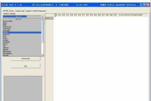רכב כלי כרית אוויר איפוס תוכנה אוטומטי immo כלי cartool v1.06 כרית אוויר איפוס כלי
