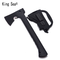 King Sea Survival Tomahawk Axes Multifunction Camping Hand Fire Axe Outdoor Ax With Plascti Sleeve