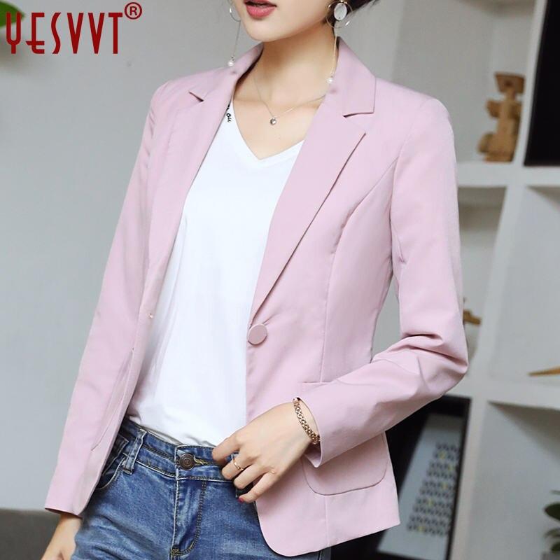 yesvvt autumn women blazers and jackets 2017 full sleeve blazer women blue leisure blazers office lady suits size s -3xl