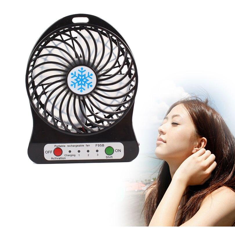 Portable Mini Usb Fan Led Rechargeable Desktop Fan Cooling